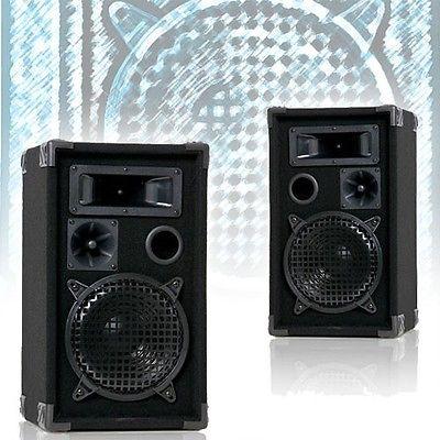 2 Bass Boxen Lautsprecher DJ PA Beschallung Kneipen Event Party 3-Wege 600 Watt