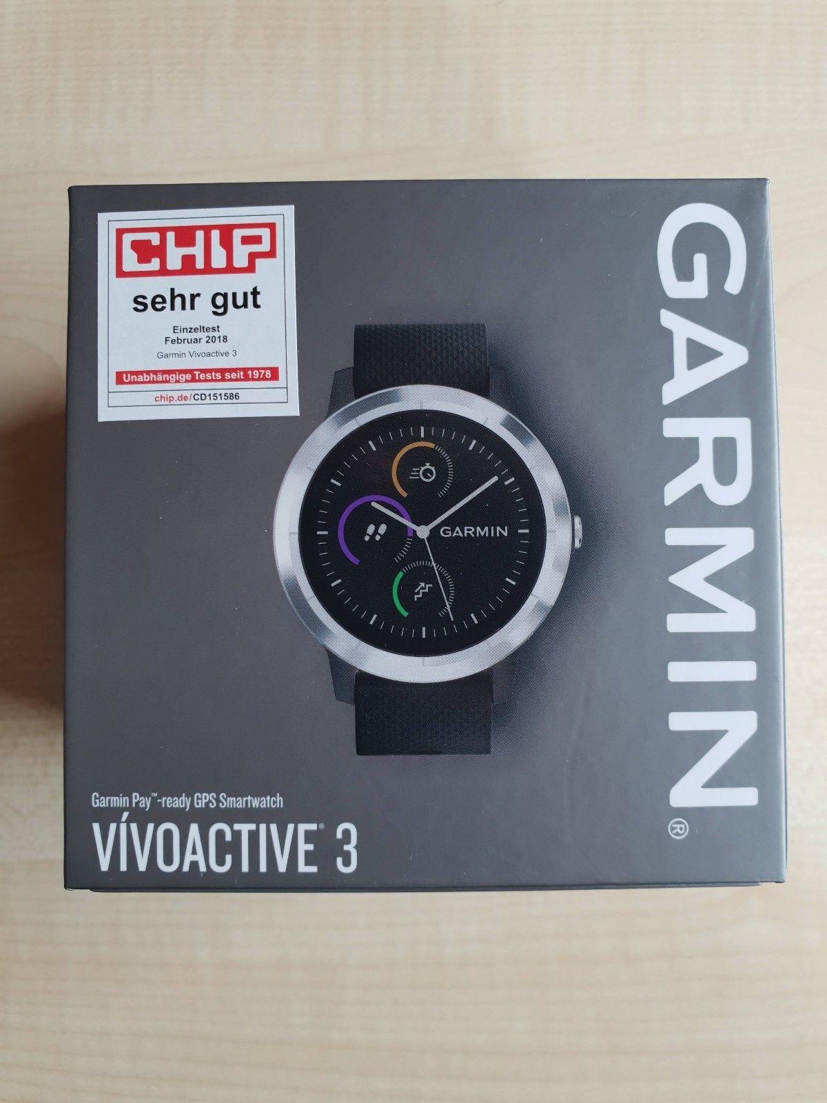 Garmin Vivoactive 3 - GPS Smartwatch - Original Verpackung - Kaufdatum: 23.03.18