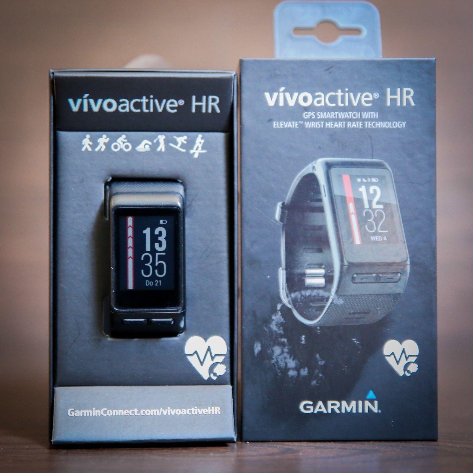 Garmin Vivoactive HR Sportuhr - Schwarz GPS Smartwatch