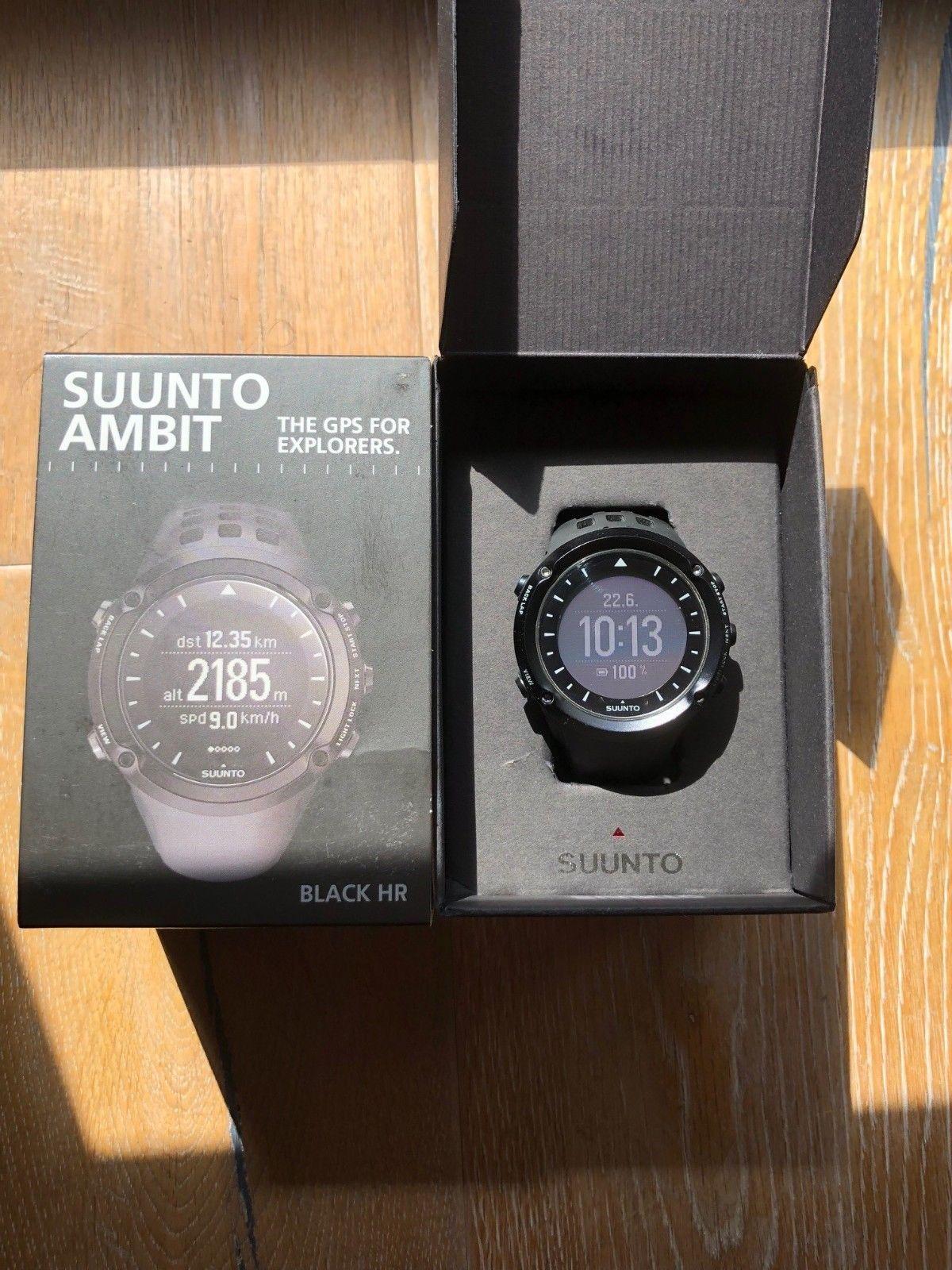 Suunto Ambit Black HR, Wie Neu, ohne Gebrauchsspuren, voll Funktionsfähig