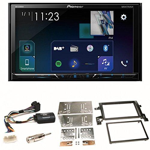 Pioneer AVH-Z5100DAB Moniceiver Bluetooth CarPlay USB CD DVD Autoradio DAB+ Digitalradio Einbauset für Suzuki Grand Vitara JT