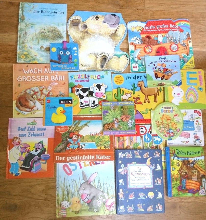 19 Bücher Kinder Baby Kinderbücher Pappbücher Bücherpaket
