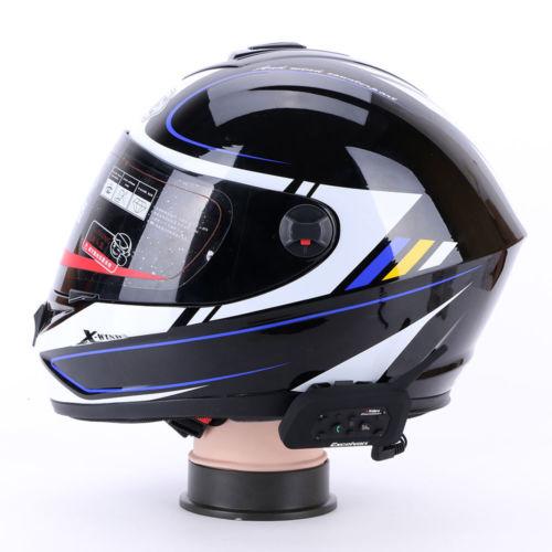 2x V6 BT Motorrad Gegensprechanlage Intercom Headset Sprechanlage 1200m 6 Fahrer