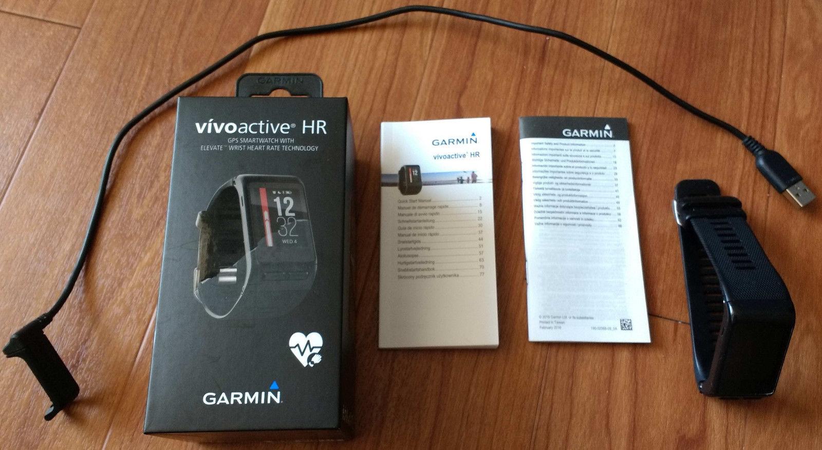 Garmin Vivoactive HR Sportuhr - Schwarz, mit Herzfrequenzmessung am Handgelenk