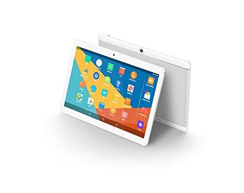 Android Tablet 10,1 Zoll, 2560 * 1600 Full HD IPS Touchscreen 2 GB Speicher 64 GB Acht-Kern-CPU Dual-Kamera 2MP Und 8MP, Wifi Bluetooth GPS (Gold Und Silber),Silver,128G