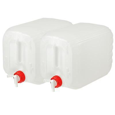 Wasserkanister 2x10L Wasser Kanister mit Hahn Trinkwasserkanister Camping Deckel