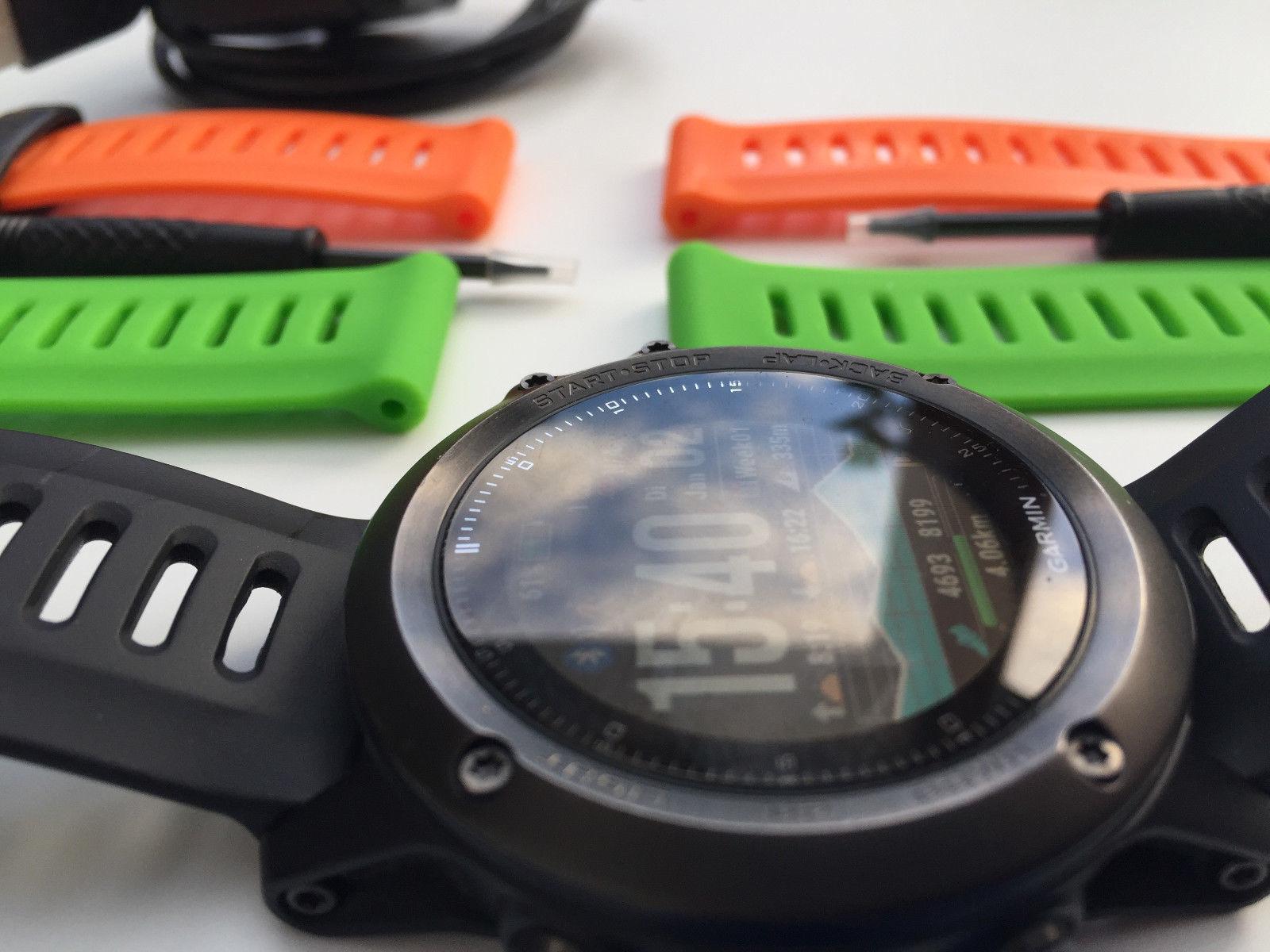 Garmin Fenix 3 GPS Multisportuhr - Schwarz/Silber