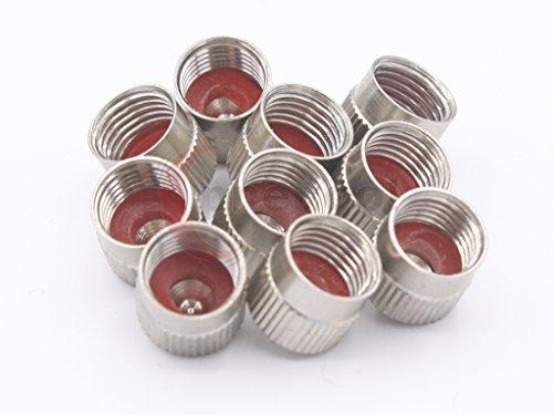pneugo!® 10 Metallventilkappen / Ventilkappe VG8 mit Dichtung für PKW