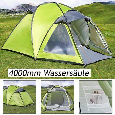 Zelt Campingzelt Igluzelt Kuppelzelt Camping 3 Personen grün 4.000mm Wassersäule