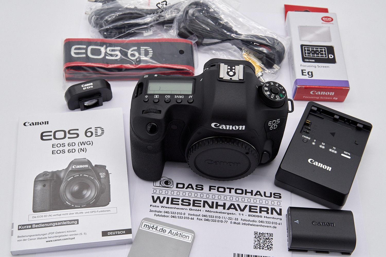 Canon EOS 6D Mark I Gehäuse, mit Rest-Garantie, nur 1304 Auslösungen, neuwertig