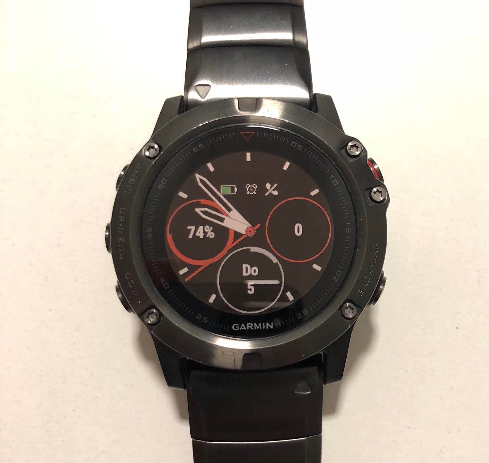 Garmin fenix 5X Saphir - Grau mit Metallarmband GPS Multisport (010-01733-03)