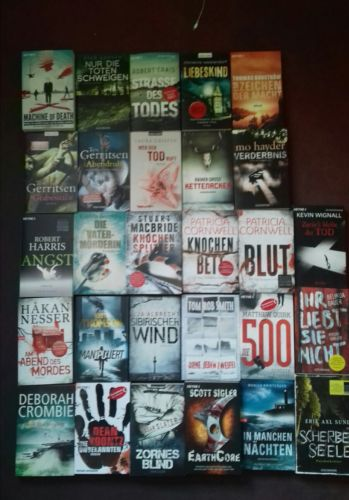 Sammlung Bücher Krimis und Thriller