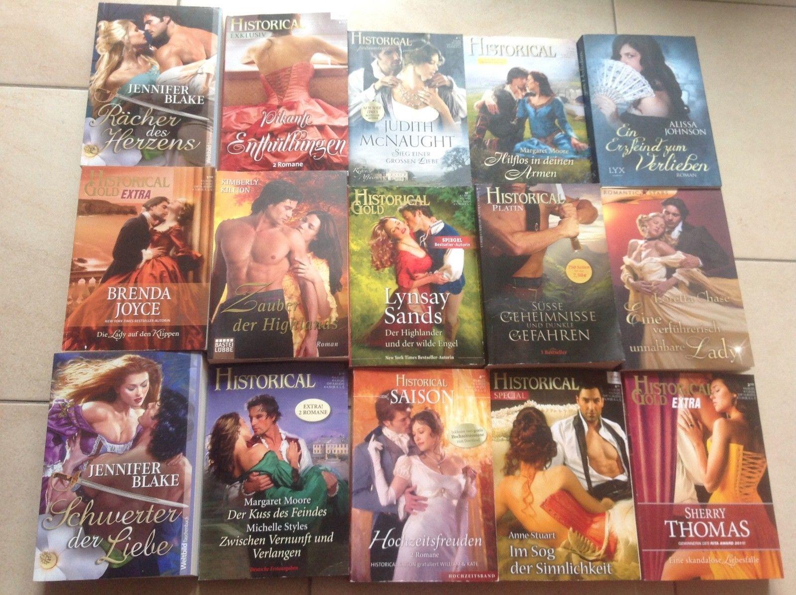 Bücherpaket, 15 historische Liebesromane, guter Zustand