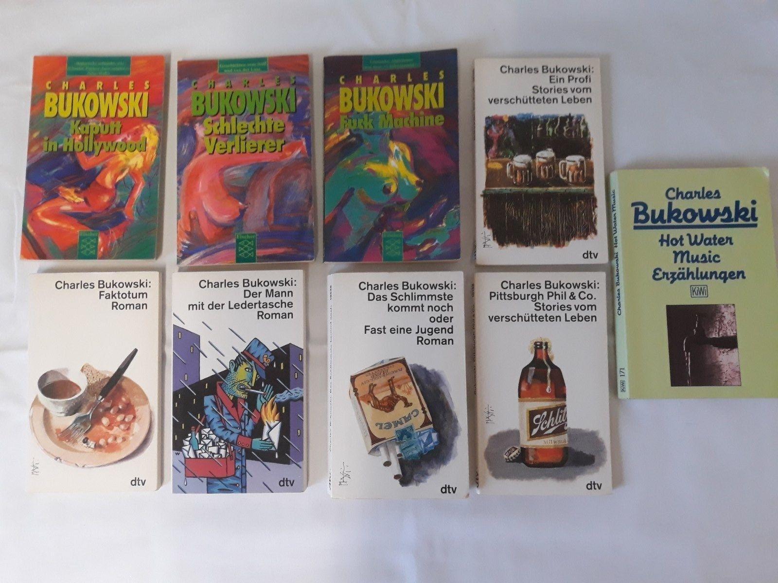Büchersammlung 9 Stück verschiedene Charles Bukowski Taschenbücher