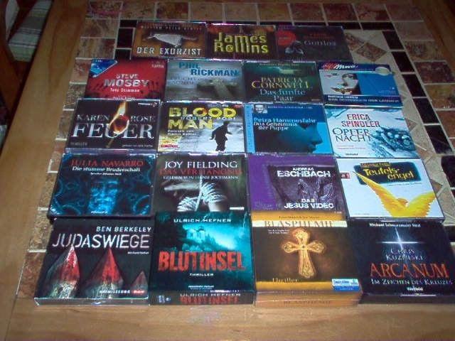 19 Hörbücher Hörbuch Sammlung Hörbuch Paket Thriller