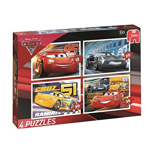 Disney 49.817cm Cars 7,6cm Puzzles in einer Box (12/20/30/36Stück, Set von 4)