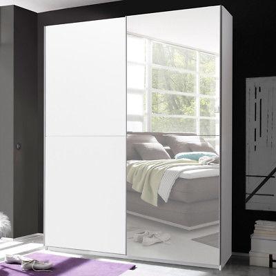Schwebetürenschrank Victor 2 Kleiderschrank in weiß inkl. Spiegel Breite 170 cm