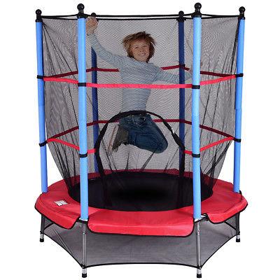 Kinder Trampolin Kindertrampolin Gartentrampolin Indoor Outdoor 140cm für Kinder