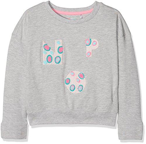 NOP Mädchen G Sweater Ls Lynbrook AOP(Pullover), Grau (Grey Melange C246), 134