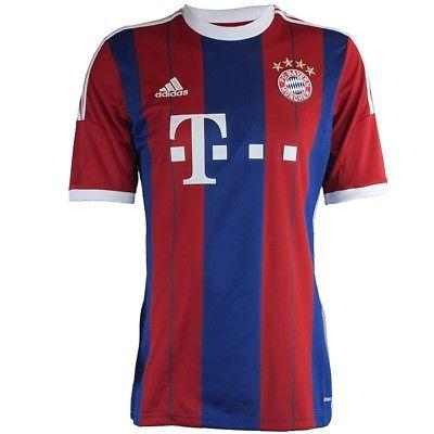 Adidas Bayern München Home Trikot rot blau Fußball Jersey Neu Gr.L