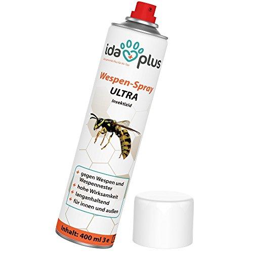Ida Plus - Wespenspray Ultra- Spray Gegen Wespen, Hornissen | Bekämpft und entfernt Alle Wespen, Wespennester in Haus, Garten, Dachböden | Schnelle und zuverlässige Wespenabwehr (1 x 400 ml)