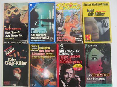 106 ältere Kriminalromane Krimi Detektivromane Spionageromane Thriller