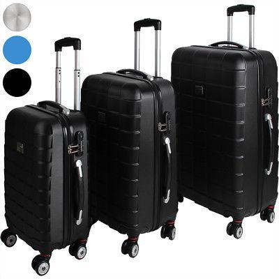Monzana® 3tlg. Koffer Reisekoffer Set Trolley Hartschalenkoffer Reisekofferset