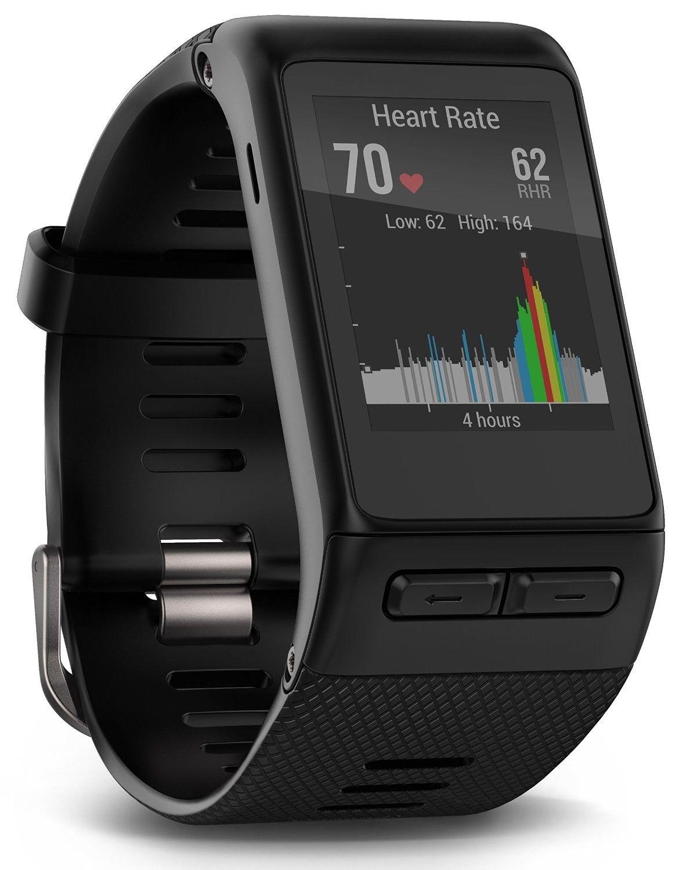 Garmin Vivoactive HR Fitness Tracker Smartwatch GPS Sport Uhr + Ersatzband rot