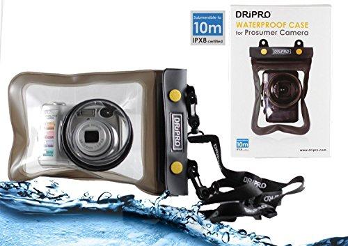 Navitech Schwarzes Wasserfestes Case / Cover / Hülle / Unterwasserkamerahülle für Canon Powershot G5X