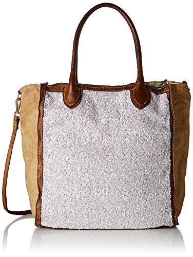 Caterina Lucchi Damen L000750nd Business Tasche, Beige (Beige), 17x33x35 cm