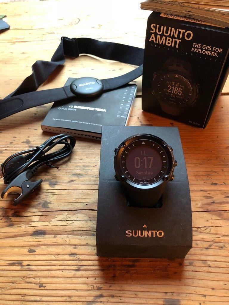 Suunto Ambit Black GPS Uhr Läufer, Biker, Made in Finnland