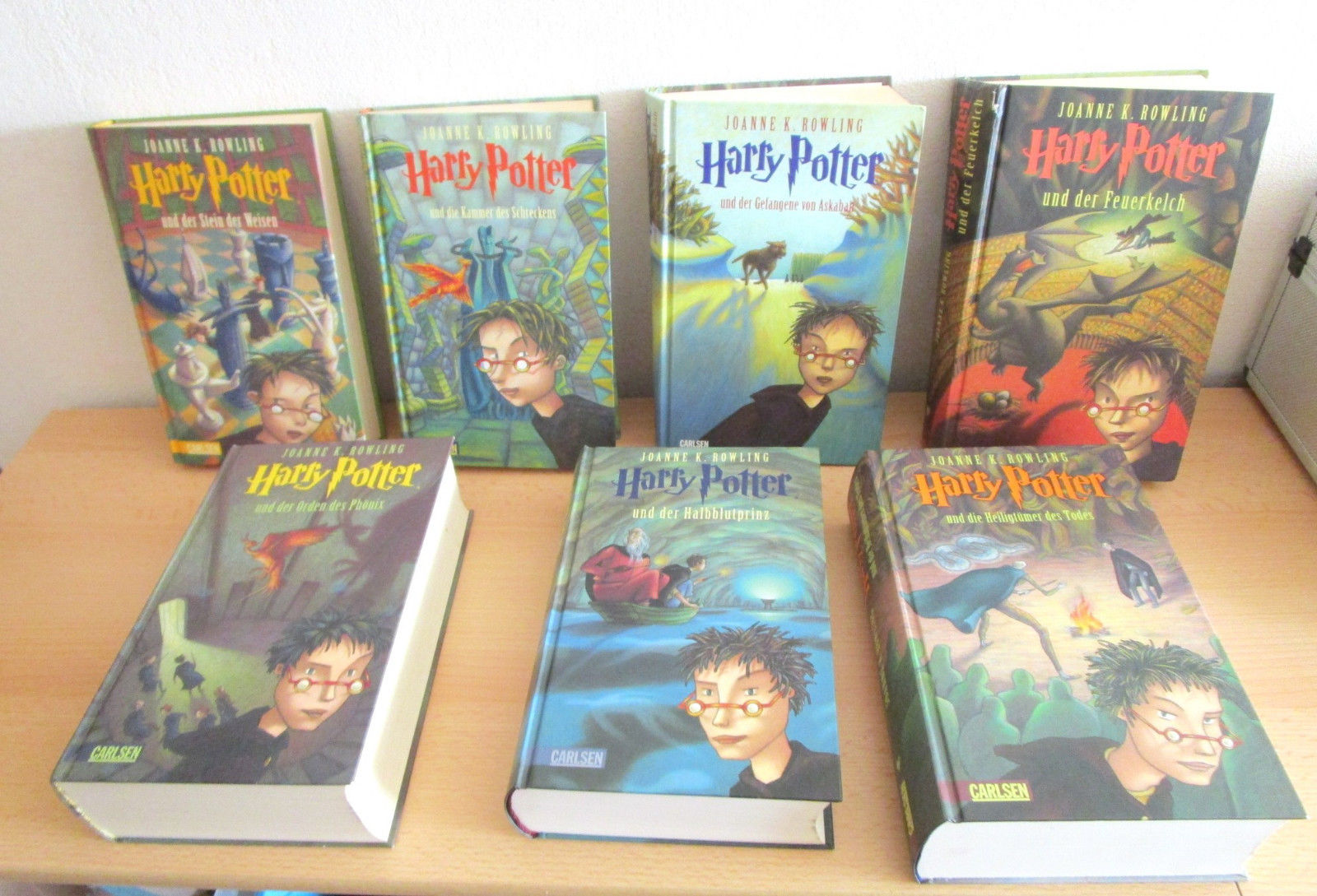 Harry Potter komplett Reihe Bände 1 - 7 Sammlung in gebundene Ausgabe