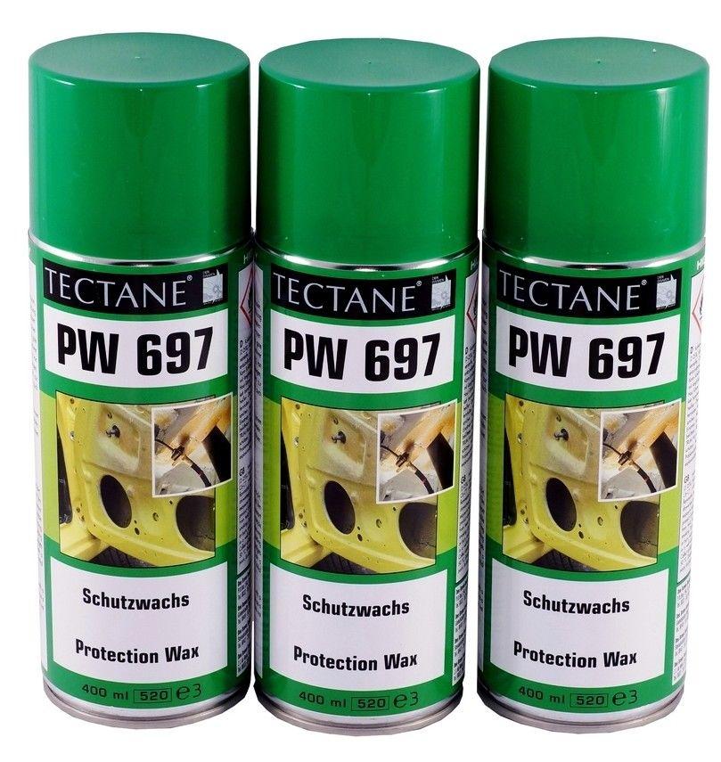 Schutzwachs 9,00€/L Tectane 3x400ml Spray transparent  Sprühwachs PW 697