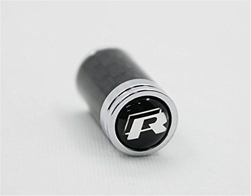 guoyuanzed Karbonfaser R-Line Sport Stil Auto Reifen Rad Ventil Stem Kappen fit für VW alle Modell 4-pcs Set
