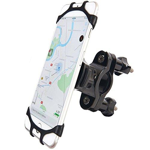 Fahrrad Handyhalterung, Anti-Shake 360 Drehen Universal GPS Halter für Straßenfahrräder Motorrädern Mountainbike und Scootern, Geeignet für 4,0