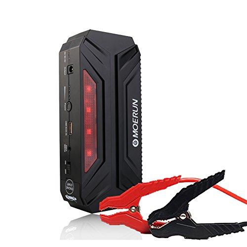 800A Spitzenstrom 18000mAh Tragbare Batterie zur Auto-Starthilfe 12 V, Autobatterie zum Überbrücken, Anlasser, tragbares Starthilfegerät mit USB-Anschluss, Powerbank für Anlasser und Lichtmaschinen, Tablet und vieles mehr (LED-Taschenlampe)