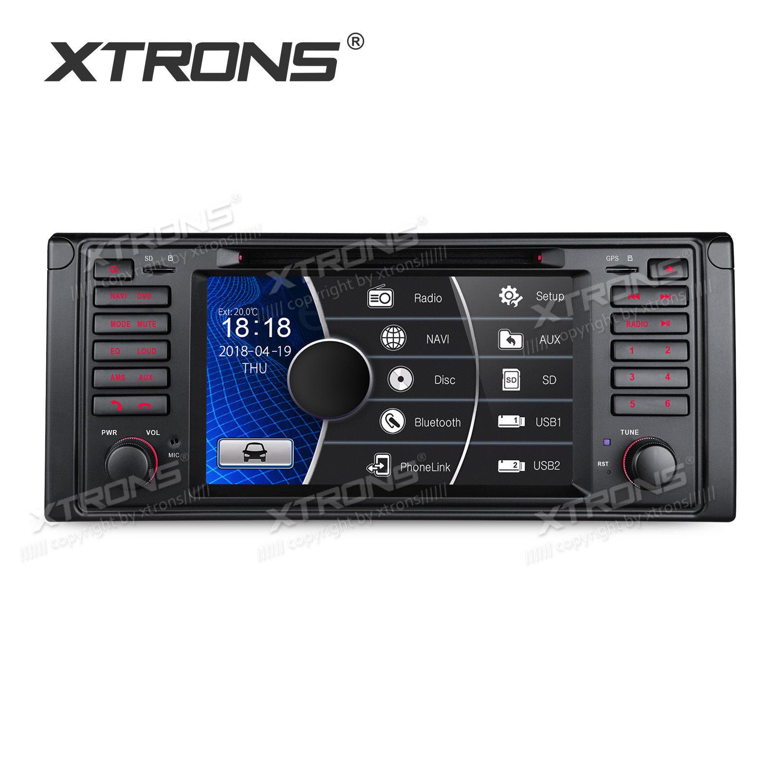 7 Zoll Autoradio für BMW 5er E39 M5 mit GPS Navigation DVD CANbus Bluetooth RDS