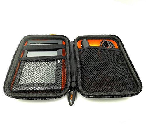 Garmin Sat Nav Tragetasche passend für alle 5-Zoll Garmin Laufwerke 51LMT-S D 40LM DriveSmart 50LM Zumo 345LM 395LM Dezl 580 LMT-D Nuvi 57LM Orange/Schwarz