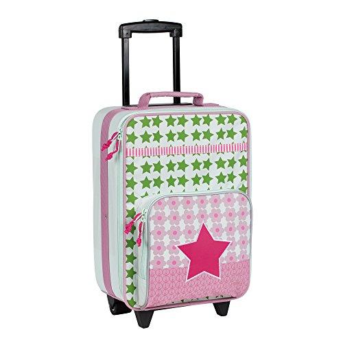 Lässig stabiler Kinder Reisekoffer/Kindertrolley mit separatem Schuh-/Wäschebeutel, Starlight magenta