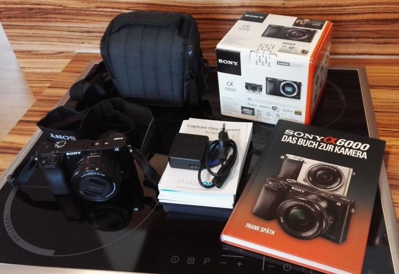 Sony Alpha ILCE-6000L 24.3 MP SLR-Digitalkamera - Schwarz (Kit m/ E PZ 16-50mm f