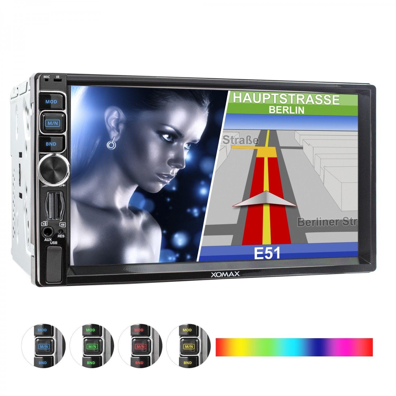 AUTORADIO MIT NAVI GPS USB SD BLUETOOTH 7
