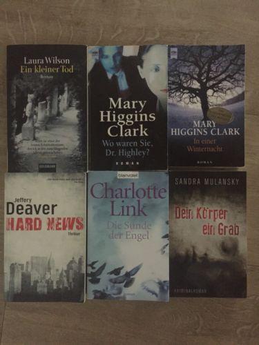 Bücherpaket Sommerlektüre Krimi Thriller 6 Bücher