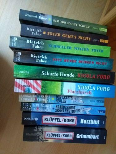 Bücherpaket 10 Bücher Krimis,Klüpfel/Kobr, Färber und andere Top, Thriller,