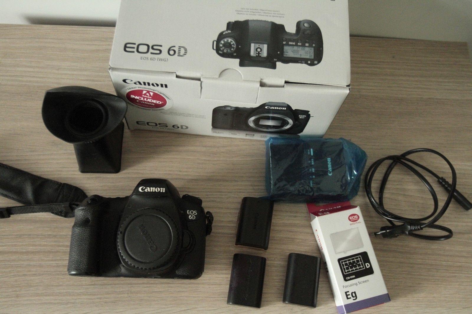Canon EOS 6D 20,2 MP SLR-Digitalkamera mit OVP und accessories