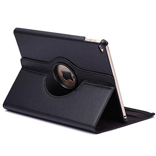 subtel® Smart Case 360° für iPad Air 2 / iPad 6 Kunstleder Flip Cover Tasche mit Standfunktion Schutzhülle Etui schwarz (A1566/A1567)