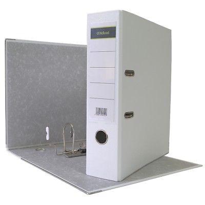 10 x Ordner A4 8cm PP Kunststoff Weiss Aktenordner Briefordner Breit Büro