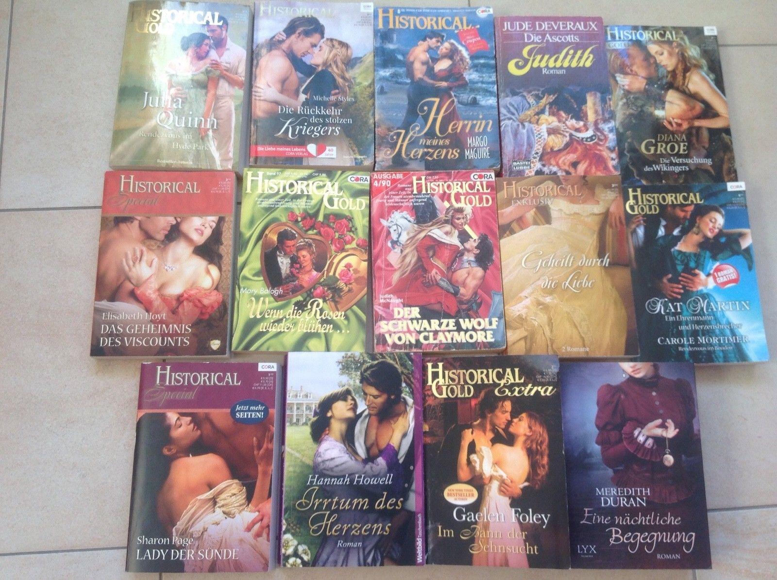 Bücherpaket, 14 historische Liebesromane