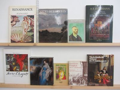 40 Bücher Bildbände Maler Malerei Künstler Gemälde Modersohn  van Gogh u.a.