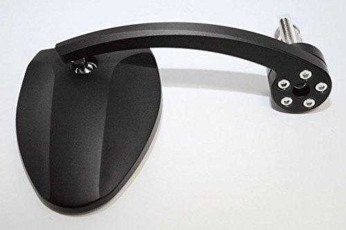 HIGHSIDER Lenkerendenspiegel FERRARA 2 EVO, Alu Kopf schwarz, m. Adapterset f. Lenkrohr-Innendurchmesser von 12 mm bis 2