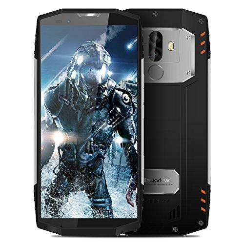 Blackview BV9000 Pro?Gesichts-Entsperrung & 6GB/128GB?2018 4G Smartphone, Outdoor Handy ohne Vertrag (IP68 Wasserdicht, Staubdicht, Stoßfest), 5.7 Zoll, Android 7.1, Helio P25 Octa-Core, 4180mAh mit Schnellladung, Frontkamera + Dual Back-Kamera, Dual SIM